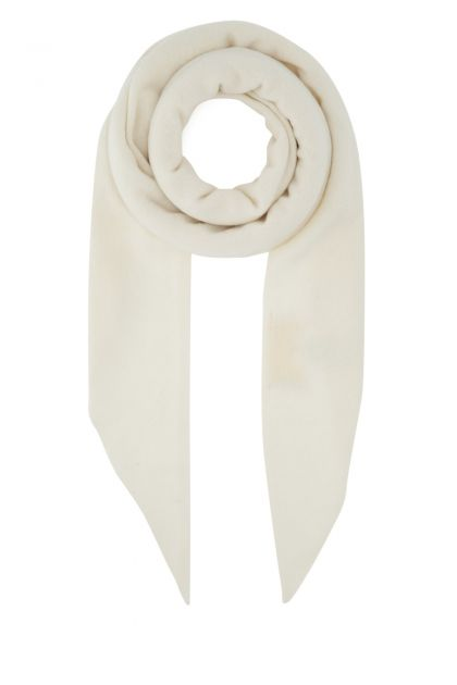Ivory wool and cashmere scarf
