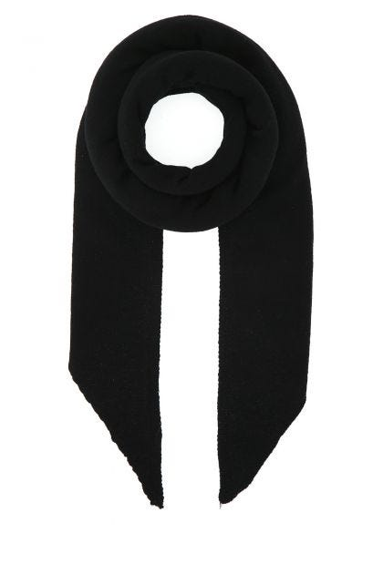 Black wool and cashmere scarf