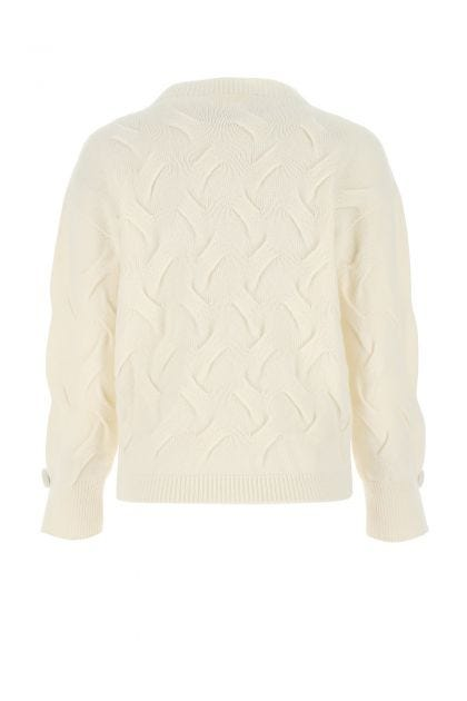 Ivory cashmere and wool sweater