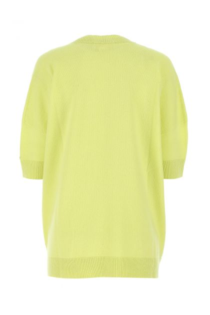 Acid green cashmere oversize sweater