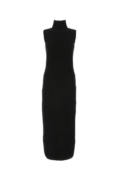 Black cashmere dress