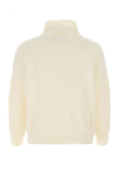 Ivory stretch mohair blend sweater