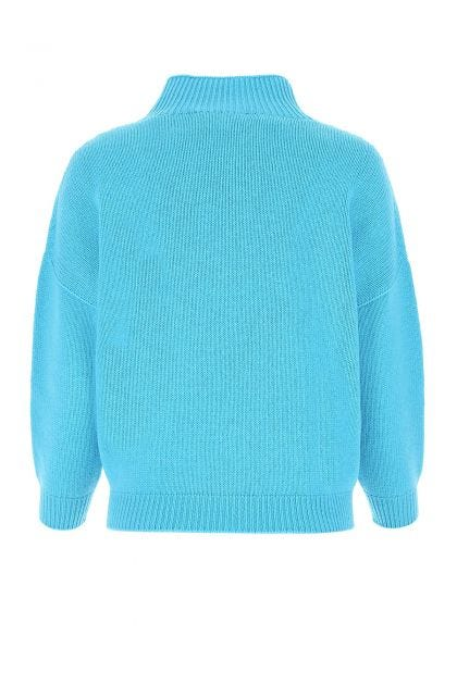 Light blue wool and cashmere sweater