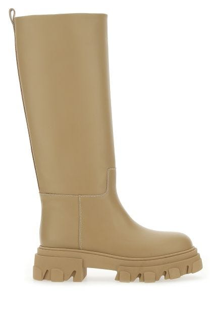 Beige leather Perni 07 boots