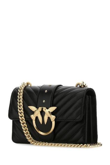 Black nappa leather Love Icon V mini crossbody bag