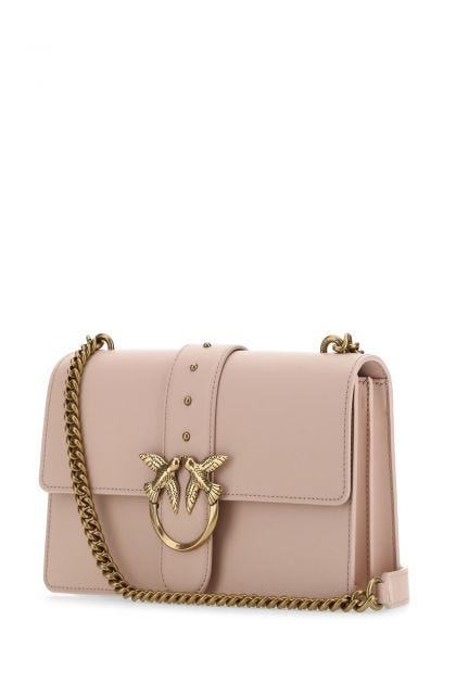 Powder pink leather Love Classic Icon Simply shoulder bag