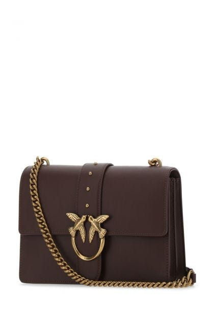 Plum leather Love Classic Icon Simply shoulder bag