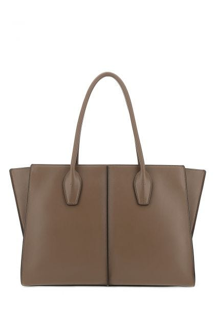 Cappuccino leather shoulder bag