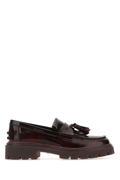 Grape leather loafers