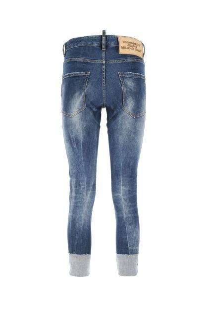 Blue denim stretch Dan jeans