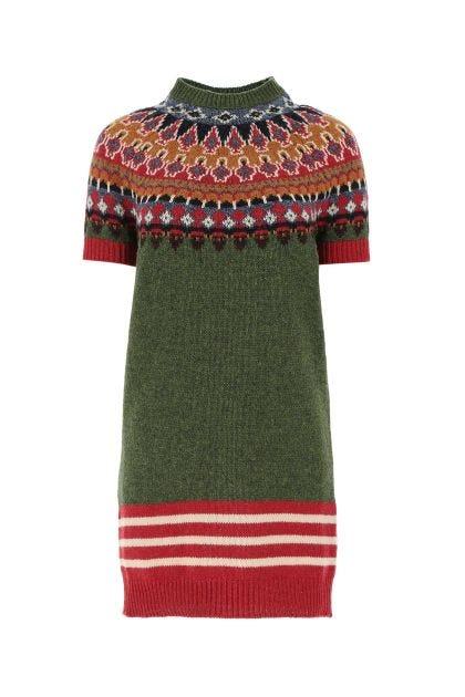 Multicolor wool dress