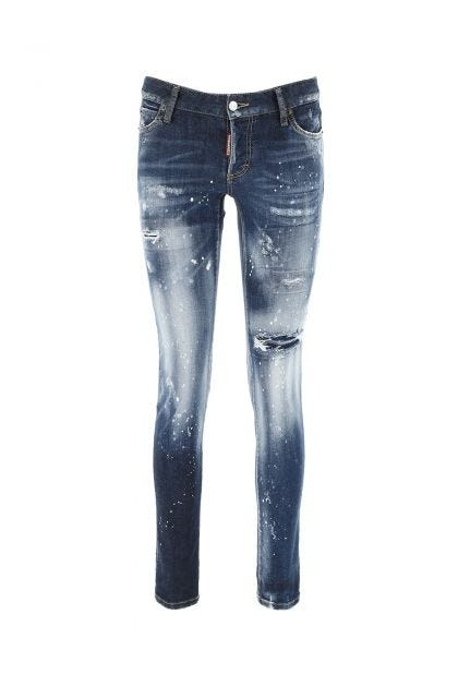 Blue stretch denim Jennifer jeans