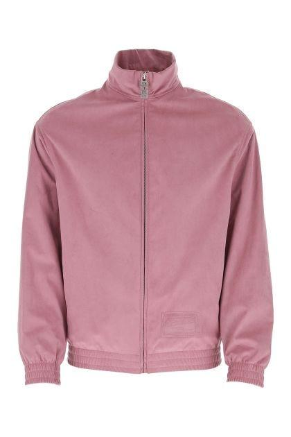 Antiqued pink polyester blend sweatshirt