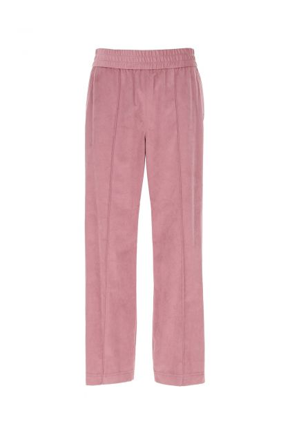 Antiqued pink polyester blend joggers