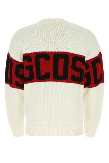 Ivory wool and acrylic sweater