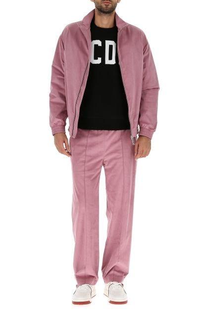 Two-tone stretch propylenyca blend oversize sweatshirt