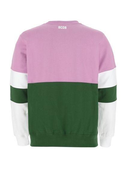Multicolor cotton oversize sweatshirt