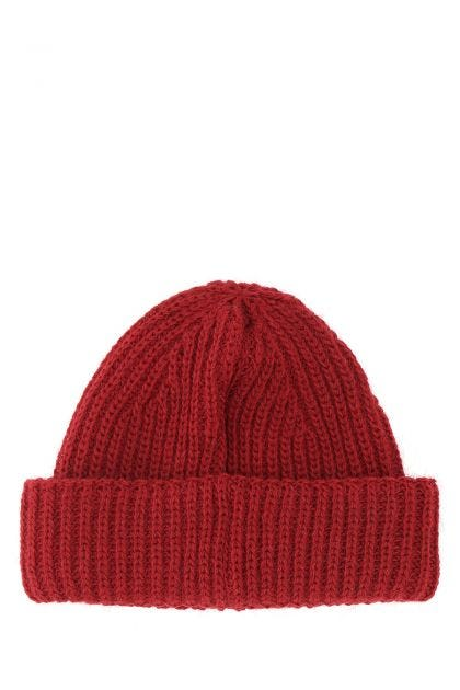 Tiziano red wool acrylic beanie hat
