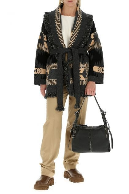 Embroidered cashmere blend Icon Jacquard cardigan