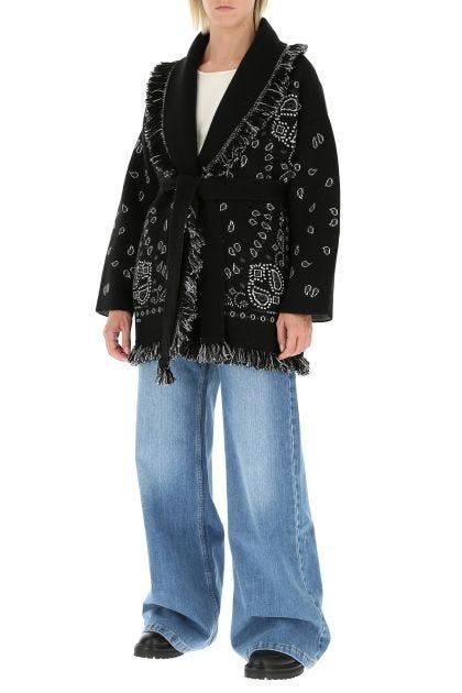 Embroidered cashmere blend Bandana cardigan