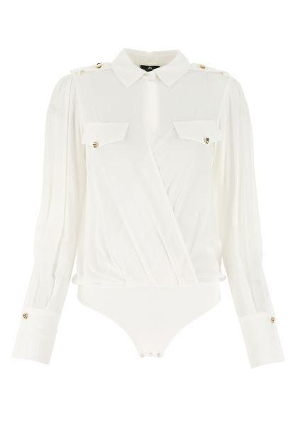 White viscose bodysuit