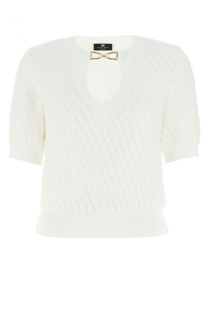 White nylon blend top