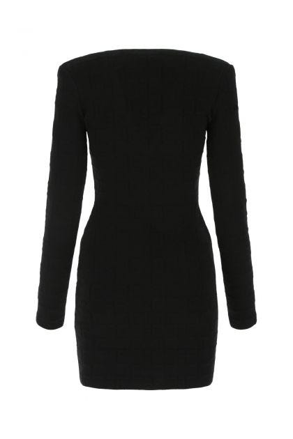 Black viscose blend mini dress