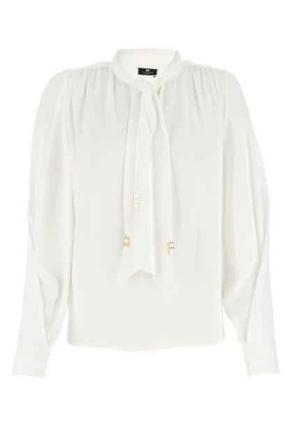 White viscose blouse