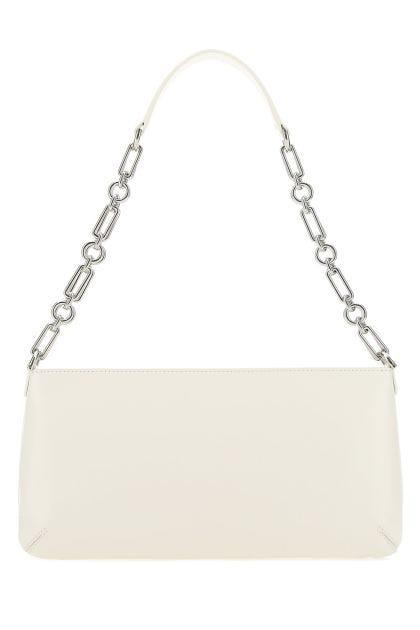 White leather Holly shoulder bag
