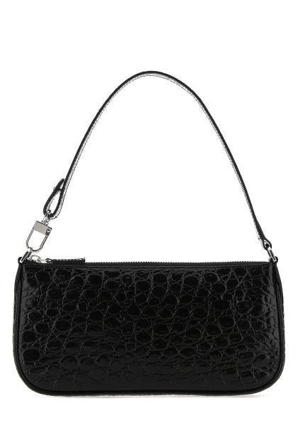 Black leather Rachel shoulder bag