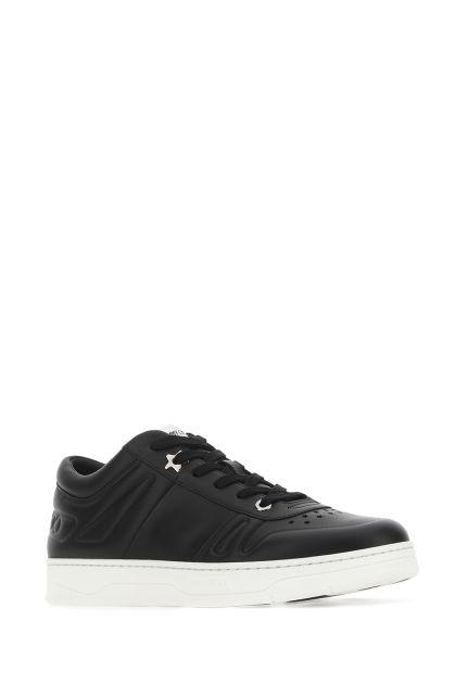 Black leather Hawaii sneakers