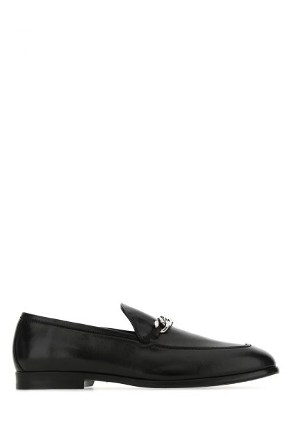 Black leather Marti loafers