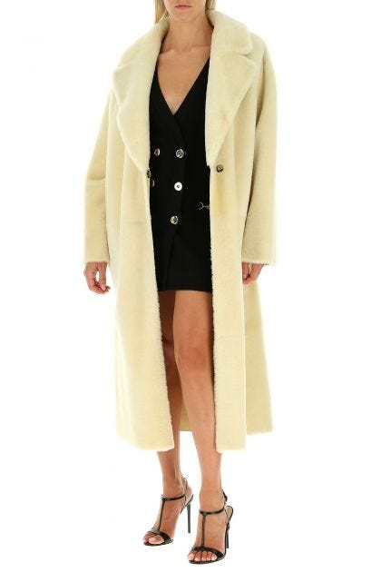 Cream reversible fur cot
