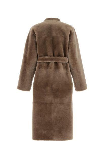Brown fur cot