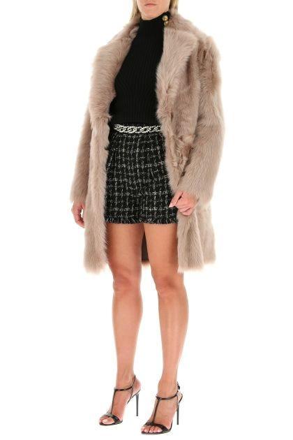 Antiqued pink reversible fur coat