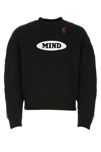 Multicolor cotton and wool blend sweatshirt