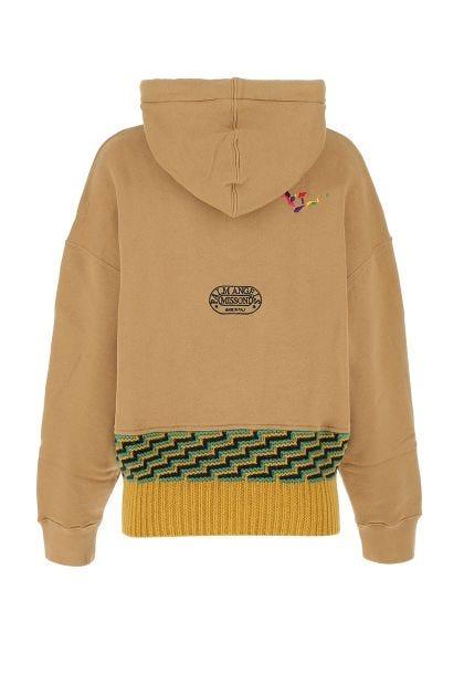 Biscuit cotton oversize sweatshirt