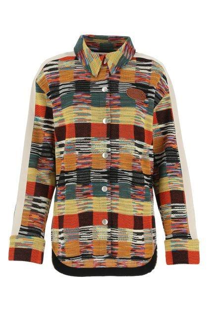 Multicolor wool blend shirt