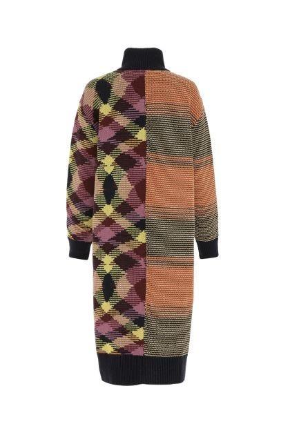 Multicolor wool blend cardigan