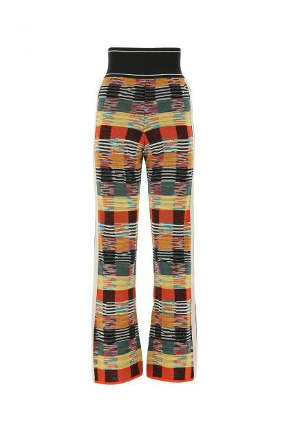 Multicolor wool blend pant