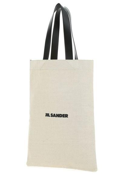 Sand canvas large shopping bag