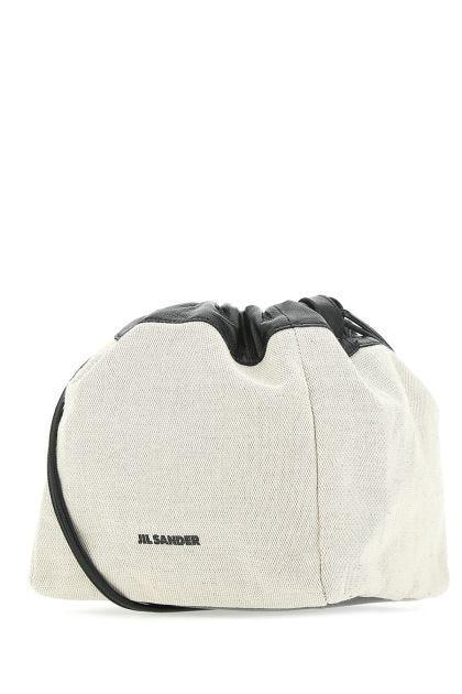 Sand canvas bucket bag