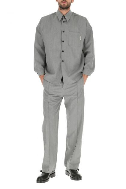 Grey wool shirt