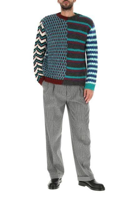 Multicolor acrylic blend sweater