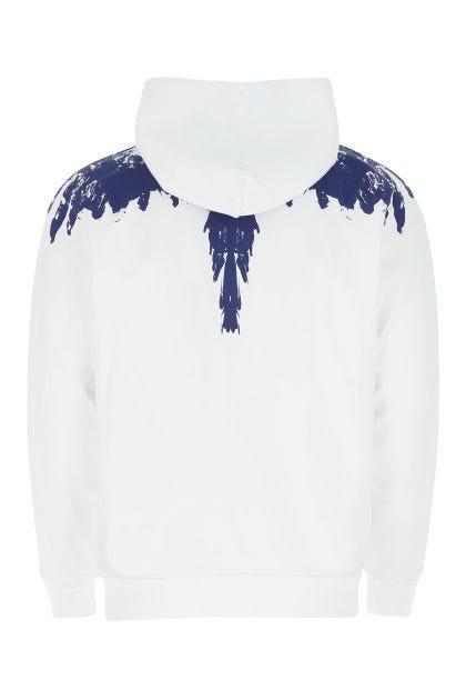 Ice white cotton sweatshirt
