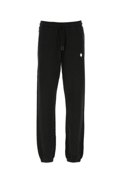 Black cotton joggers
