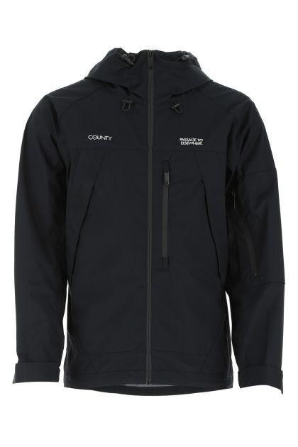 Black cotton blend jacket