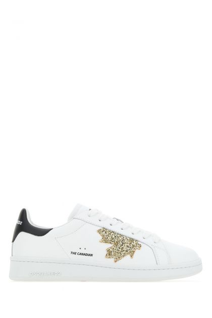 White leather Boxer sneakers