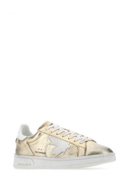 Gold leather Boxer sneakers