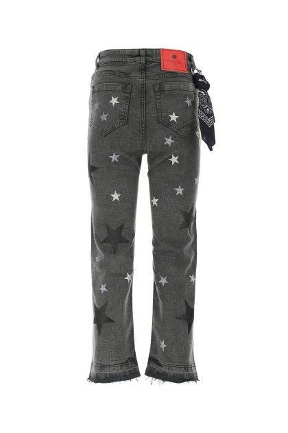 Dark grey stretch denim jeans